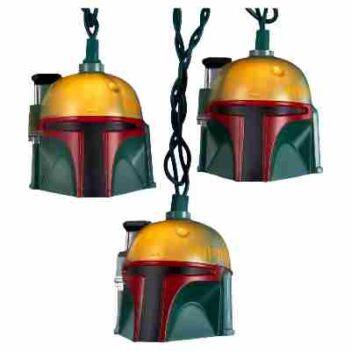 Star Wars Boba FeStar Wars Boba Fett Helmet Light Settt Helmet Light Set