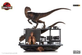 IRON STUDIOS Velociraptors in the Kitchen Diorama Art Scale 1/10 – Jurassic Park