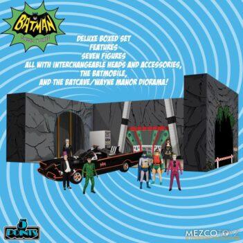 MEZCO Batman Classic TV Series 5 Points Box Set PRE VENTA