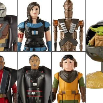 HASBRO Star Wars Retro Collection The Mandalorian Wave 1 Set of 7 Figures