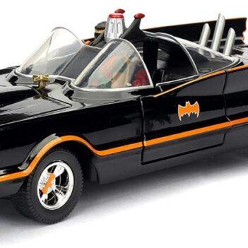 JADA TOYS Batman Classic TV Series Batmobile con Batman y Robin 1/24