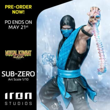 IRON STUDIOS Mortal Kombat Sub-Zero Art Scale 1/10 PRE VENTA