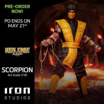 IRON STUDIOS Mortal Kombat Scorpion Art Scale 1/10 PRE VENTA