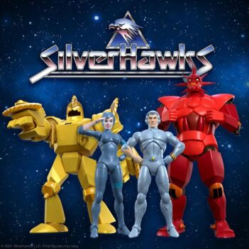 ¡La serie animada SilverHawks regresa como parte de la línea de figuras a escala Ultimates de 7 pulgadas de Super7! Este conjunto incluye 2 de los villanos principales Mon * Star y Buzz-Saw y 2 de los SilverHawks